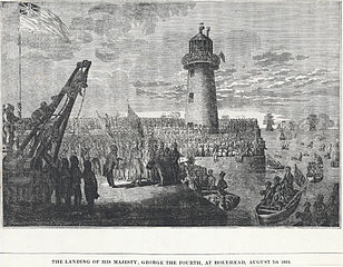 The landing of his Majesty, George the Fourth, at Holyead, August 1821