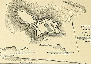 Harbor Defenses of Narragansett Bay - Plan of First System Fort Adams.
