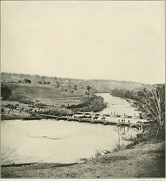 Battle of Chancellorsville - Troops crossing the Rapidan at Germanna Ford