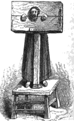 Christopher Atkinson Saville - A pillory, to which Atkinson was sentenced after his conviction for perjury