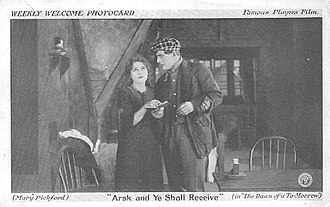 The Dawn of a Tomorrow (1915 film) - Photo card for the film.