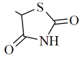 Thiazolidinedione functional group.png