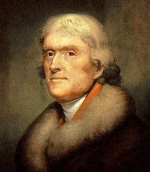 Portrait of Thomas Jefferson by Rembrandt Peale