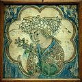Tile young man flowers - Iran - Louvre museum - AD 27812.jpg