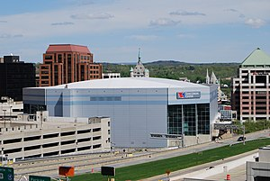 The Times Union Center in Albany, New York, na...
