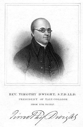 Timothy Dwight IV - Engraving of Timothy Dwight IV with signature