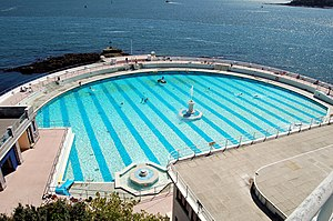 View Tinside Pool in Plymouth, UK from the roa...