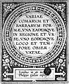 "Title page ""Variae comarum et bararum formae"", Philip Galle Wellcome L0019803.jpg"