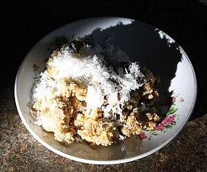 Bahasa Indonesia: Tiwul adalah makanan khas Ja...