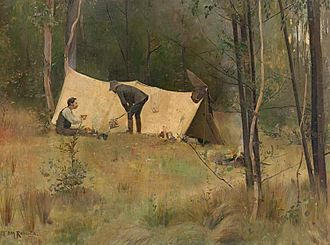 Louis Abrahams (art patron) - Image: Tom Roberts The artists' camp, 1886