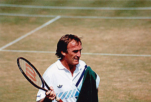 Tony Roche - Tony Roche at Wimbledon circa 1983 in Mixed Doubles