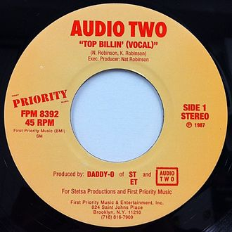 """Audio Two - Audio Two's trademark song """"Top Billin'"""" launched the duo to popularity."""