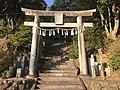 Torii of Upper Shrine (Enagaura Shrine) of Umi Hachiman Shrine 2.jpg