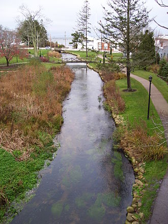 Town Brook (Massachusetts) - Town Brook, near Plymouth Harbor