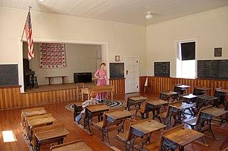 Tubac Presidio State Historic Park - Image: Tpshp old tubac schoolhouse interior