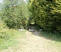 Track into woods from Riverside, Pontypool - geograph.org.uk - 2392944.jpg