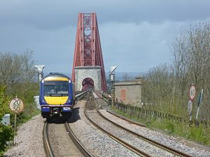 First ScotRail - Northbound Class 170 approaching the Forth Bridge on the Edinburgh to Aberdeen Line