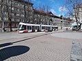Tram 517 at Kompassi plats Maneezhi tn Tallinn 24 March 2017.jpg