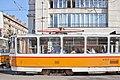 Tram in Sofia near Central mineral bath 2012 PD 049.jpg
