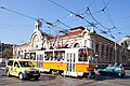 Trams in Sofia in front of Central Market Hall 2012 PD 028.jpg