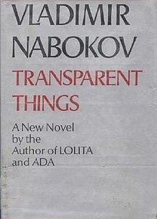<i>Transparent Things</i> (novel) Novel by Vladimir Nabokov