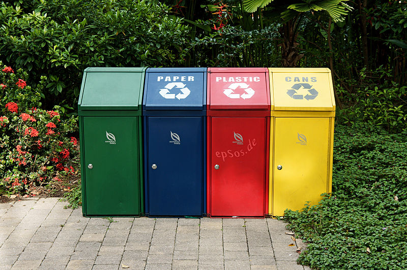 File:Trash Recycling with Disposal Containers.jpg