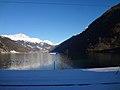 Trem Bernina Express - Lago di Poschiavo - Estacao Miralago - Suica (8746322744).jpg