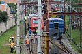 Trem descarrila na estação Itaim Paulista 02.jpg