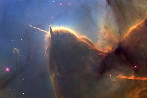 Trifid Nebula - Image: Trifid nebula close detail of pillars