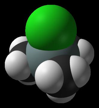 Trimethylsilyl chloride - Image: Trimethylsilyl chloride from xtal 2006 3D vd W