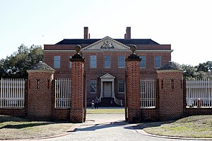 History of North Carolina - Reconstructed royal governor's mansion, Tryon Palace, in New Bern