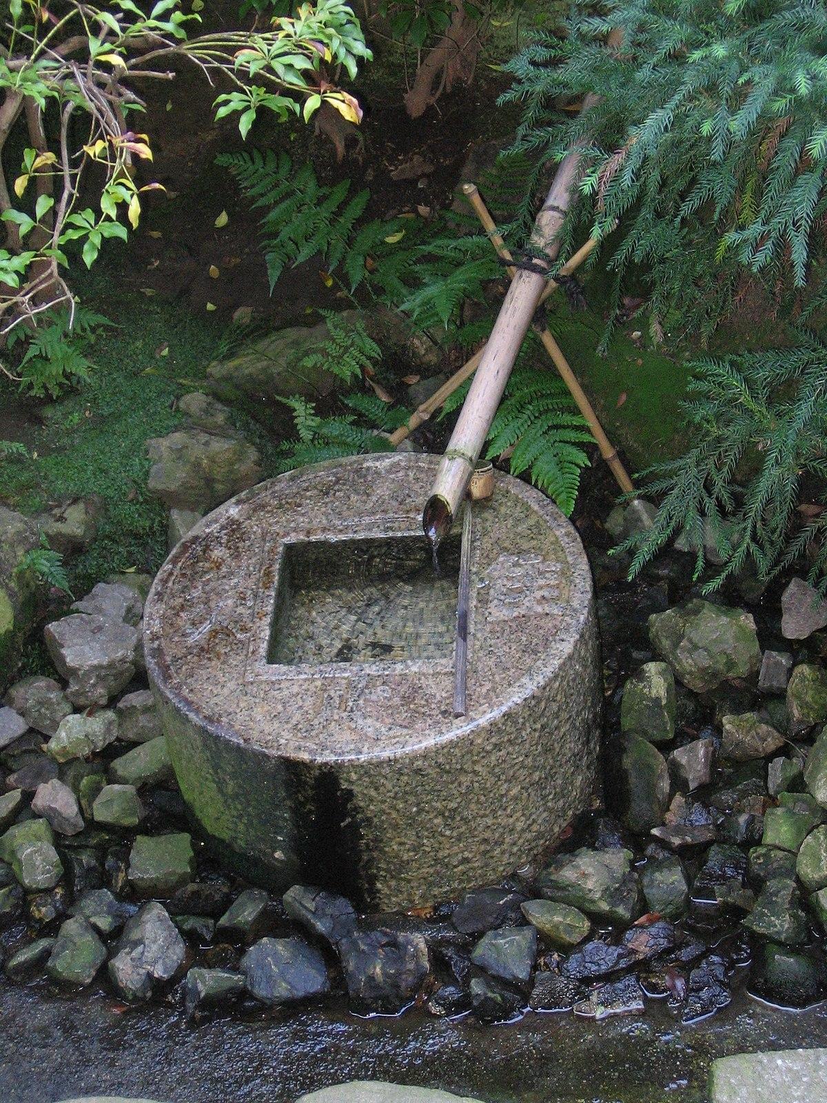 fontaine bambou jardin japonais