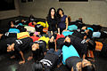 Tulip Joshi interacts with young girls at Arts in Motion's 'Dance with Joy' event 05.jpg