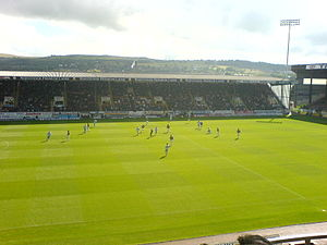 Der Bob Lord Stand im Turf Moor in Burnley