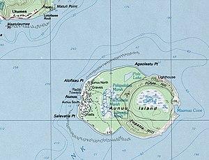 Map of the island of Aunuʻu