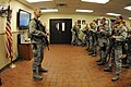 U.S. Air Force Capt. Gregory Goodman, left, with the 219th Security Forces Squadron, North Dakota Air National Guard (NDANG), addresses missile field security personnel at the beginning of a shift at Minot Air 130521-Z-WA217-153.jpg