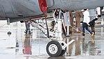 U.S. Marine Corps EA-6B Prowler(163046) of VMAQ-2 nose landing gear right front view at MCAS Iwakuni May 3, 2015 01.jpg