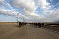 U.S. Marines with Combat Logistics Regiment 2, 2nd Marine Logistics Group, participate in a 4 mile hike during Enhanced Mojave Viper (EMV), on Marine Corps Air Ground Combat Center Twentynine Palms, Calif 120911-M-KS710-083.jpg