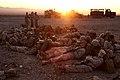 U.S. Marines with Transportation Support Company, Combat Logistics Regiment 2, 2nd Marine Logistics Group, rest prior to executing a combat logistics patrol exercise during Enhanced Mojave Viper (EMV), at Marine 120922-M-KS710-130.jpg