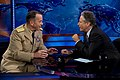 U.S. Navy Adm. Mike Mullen, chairman of the Joint Chiefs of Staff is interviewed by The Daily Show's Jon Stewart, Sept. 12, 2011.jpg