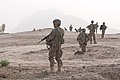 U.S. Soldiers with the 1st Battalion, 5th Infantry Regiment, 1st Stryker Brigade Combat Team, 25th Infantry Division provide security while stopped during an Afghan-partnered foot patrol in Panjwai district 120401-A-VQ566-905.jpg