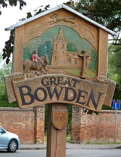 Great Bowden Human settlement in England