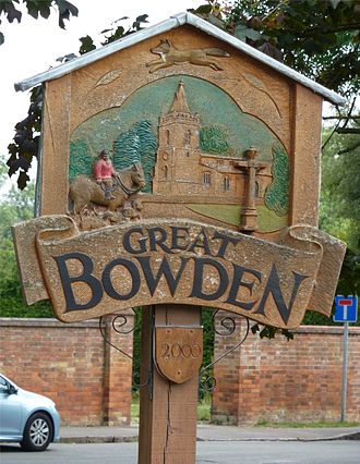 Great Bowden - Signpost in Great Bowden