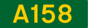 A158 road shield