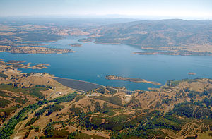 Calaveras River - New Hogan Lake, the main reservoir on the Calaveras River