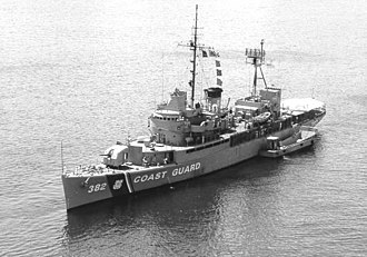 USS Bering Strait (AVP-34) - USCGC Bering Strait (WHEC-382) in Subic Bay in the Philippines in 1970 during the Vietnam War.