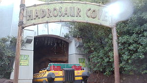 Jurassic Park: The Ride - The Hadrosaur cove.