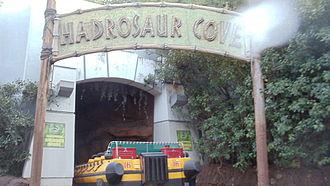Jurassic Park: The Ride - The Hadrosaur cove.
