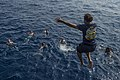 USS Antietam Sailors participate in a swim call and a replenishment at sea 160320-N-ZZ786-034.jpg
