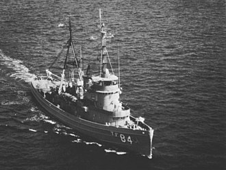 Cherokee-class fleet tug - Image: USS Cree (ATF 84) underway c 1970
